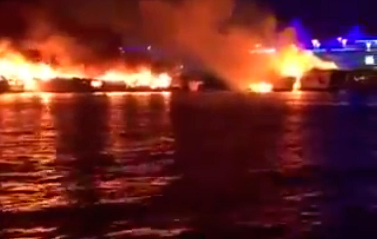 Abu Dhabi Yacht Club fire