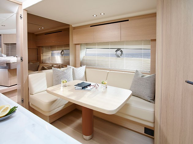 Princess V58 - could the space for the lower dinette be put to better use?