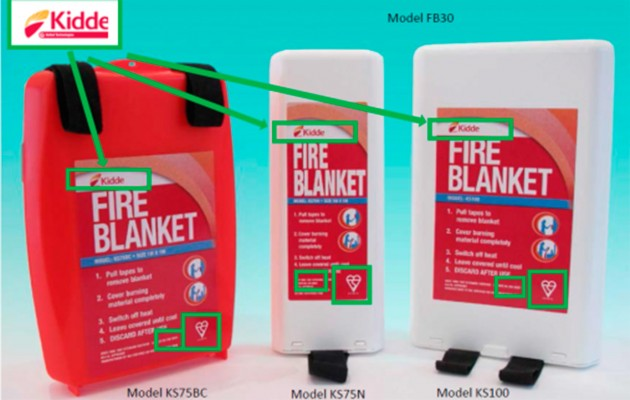 Kidde fire safety blanket recall