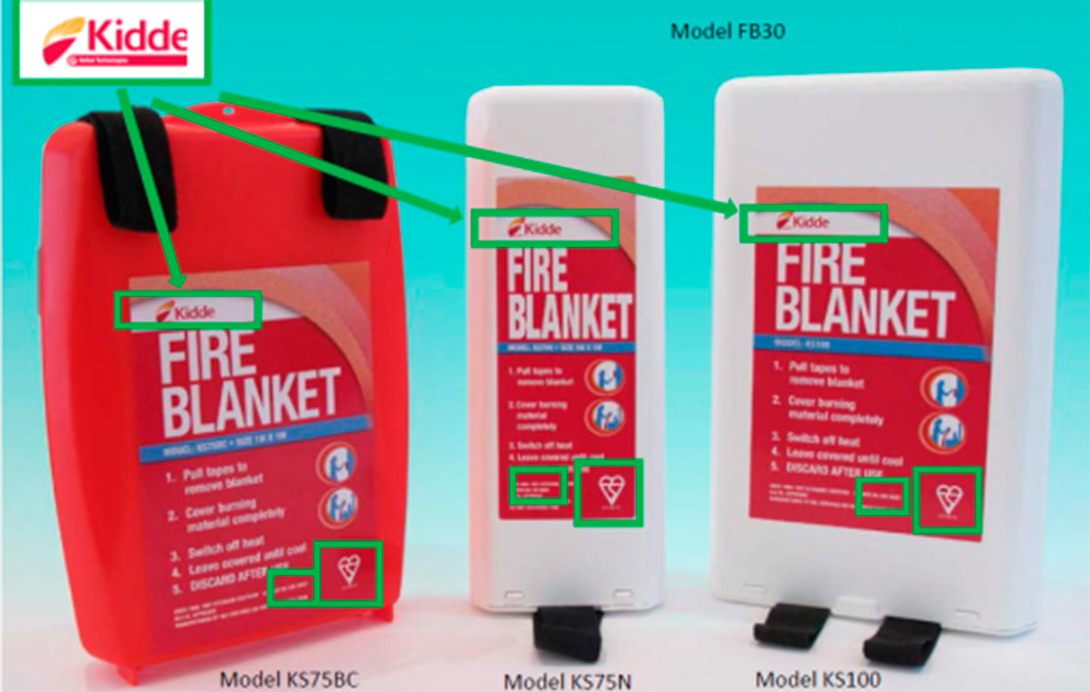Kidde fire safety blanket recall