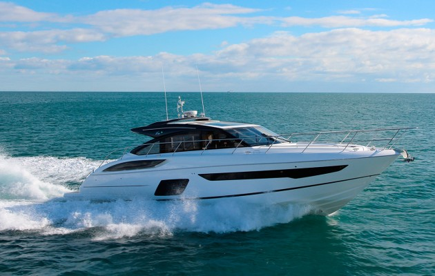 Princess V58 - exterior boasts the same smooth lines as the open version