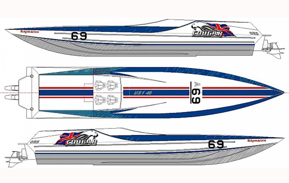 Cougar Powerboats Venture cup boat
