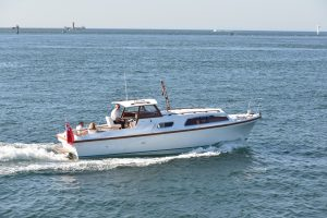 Project 31 restored example of the first boat built by Princess (Marine Projects) for 50th anniversary of Princess Yachts