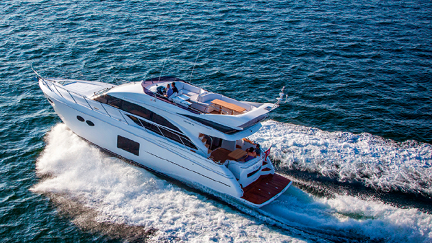 The Princess 56 was one of our test boats