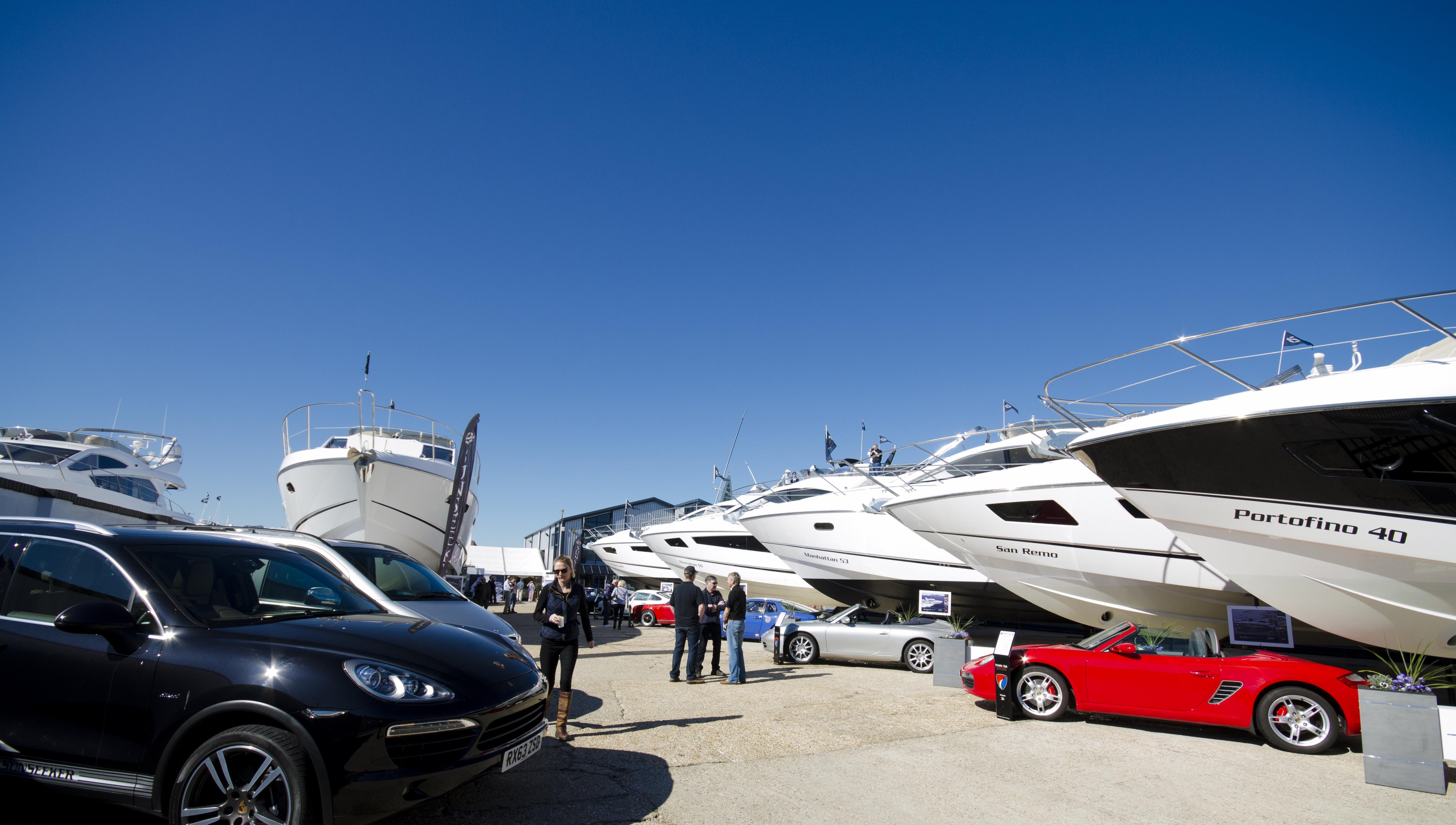 sunseeker yachts at sunseeker boat show