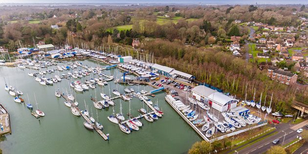 Deacons Boatyard on the Hamble