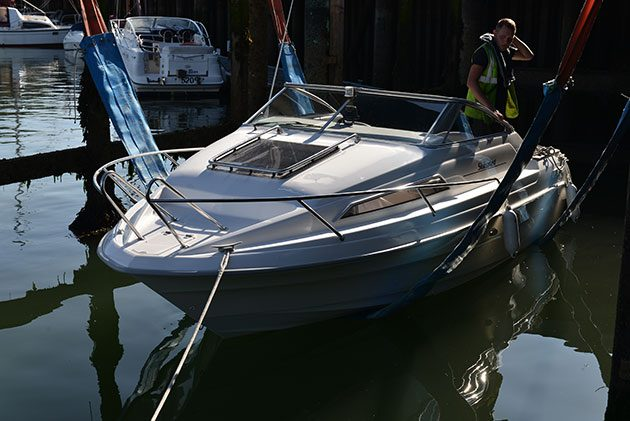 Author Nick's Skibsplast is lowered back in for the summer