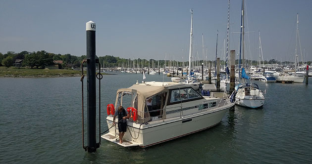 How to use pile moorings