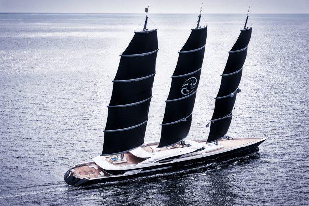 Oceanco Black Pearl at sea