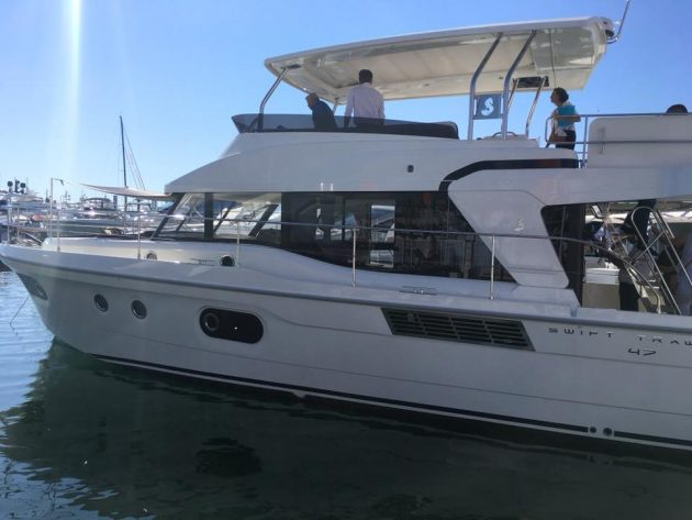 Beneteau Swift Trawler 47 at Cannes Boat Show