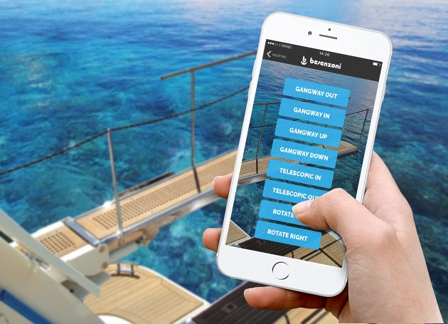 Besenzoni app to control boats remotely