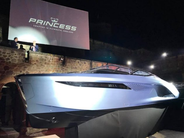 Princess R35 at the Cannes Boat Show