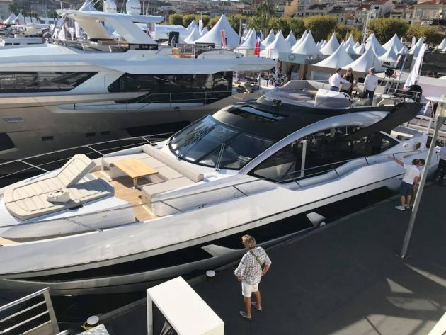 Sunseeker Sport Yacht 74 at Cannes Boat Show