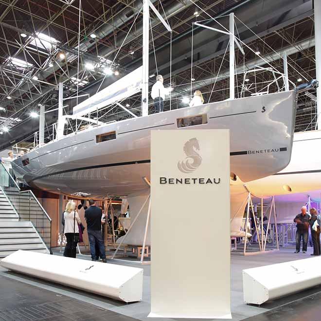 Ancasta's Beneteau at the Dusseldorf Boat Show