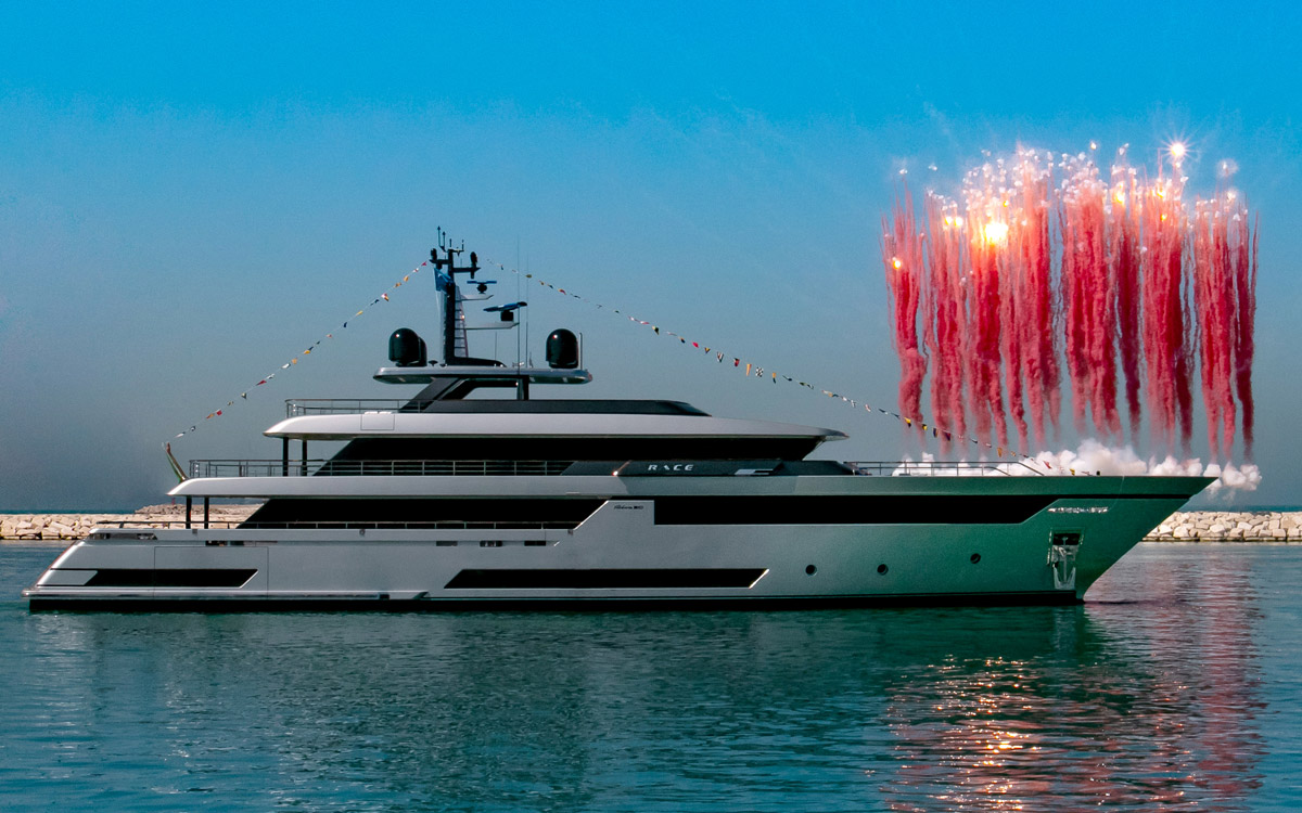 the biggest Riva yacht ever Race launched