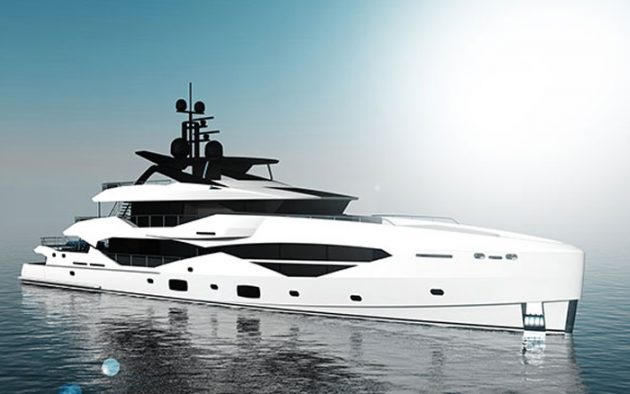 The vertical bow is a first for Sunseeker