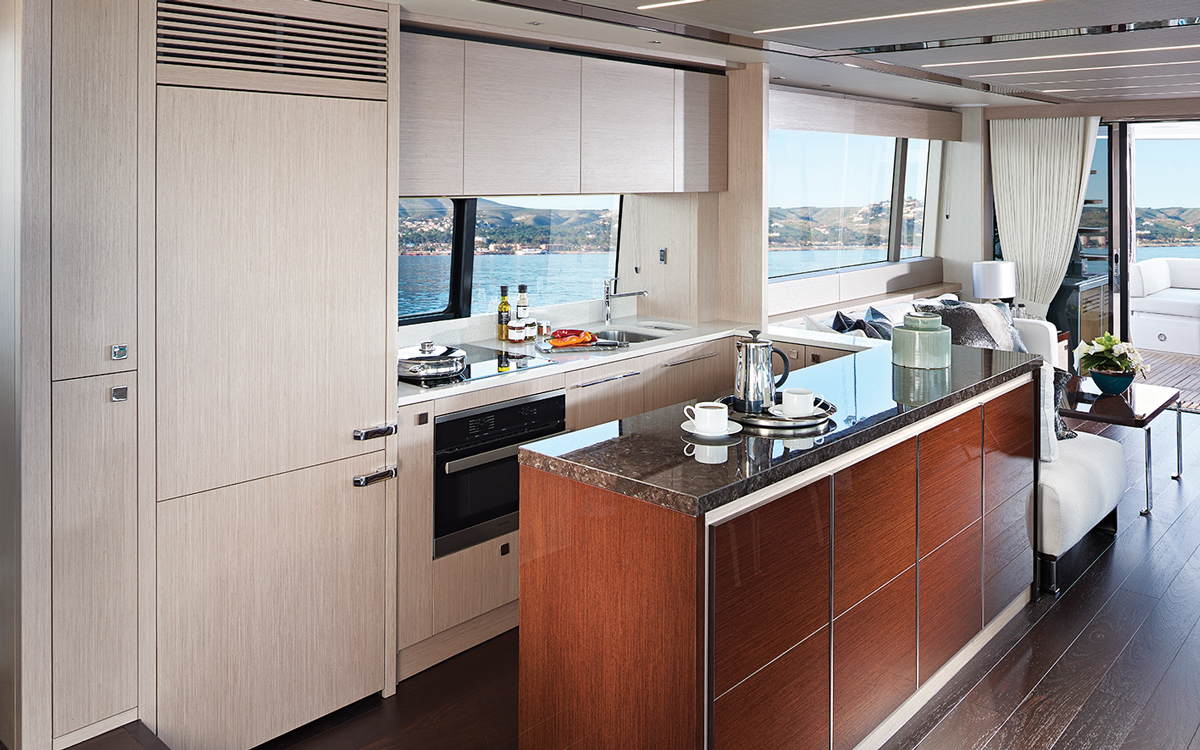 Sunseeker-76-yacht-review-galley