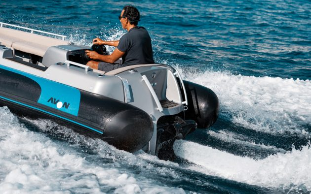 Avon's eJet 450 uses a Torqeedo Deep Blue motor to reach speeds of up to 30 knots