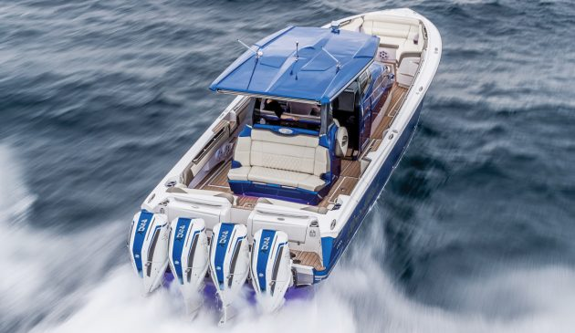 Torquey, supercharged power in a compact lightweight package make the 450R well suited to multiple installations on larger boats as well as fast RIBs
