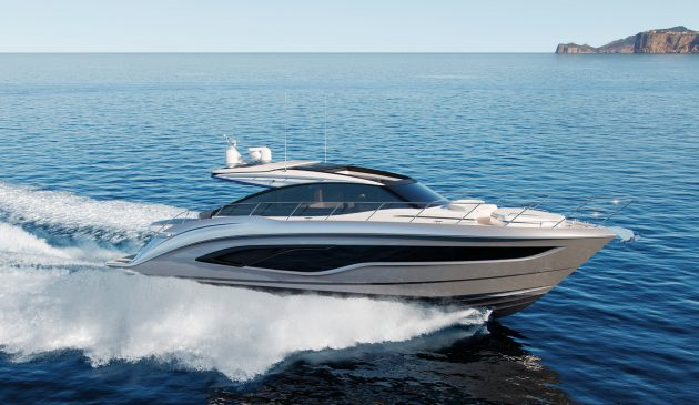 The V55 may be pushing 60ft but Princess claims it can still reach a top speed of 37 knots