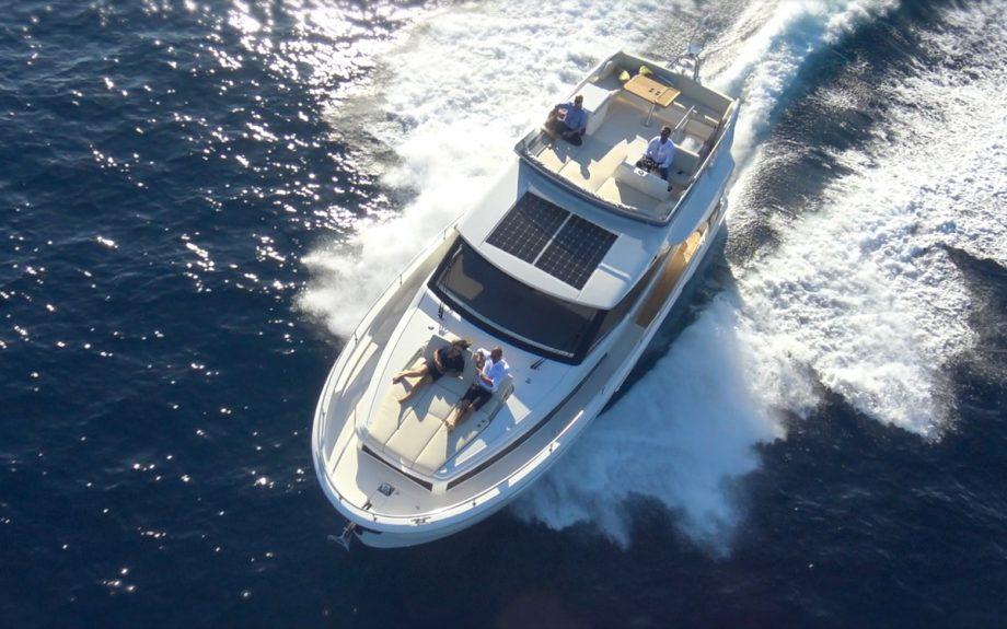 Greenline-45-Flybridge-yacht-aerial-view