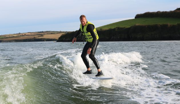 Hugo proves that you don't have to be young, fit or  remotely competent to take up wakesurfing