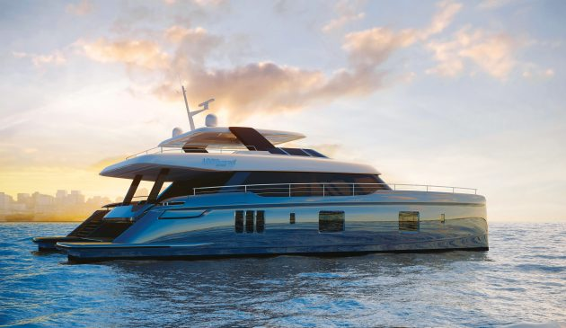 The vast new Sunreef 100 has 500m² of deck space – the same size as two tennis courts