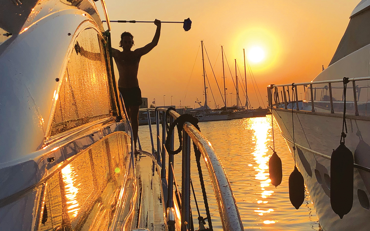 cruising-sicily-princess-54-side-deck-sunset-credit-Robert-Prevezer