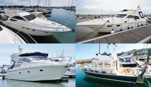 secondhand-boat-buyers-guide-best-45ft-flybridge-yachts-exterior-collage