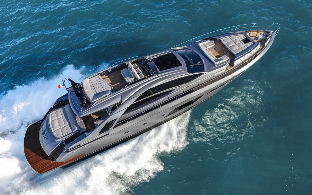 Pershing-8X-yacht-test-review-Aerial-view
