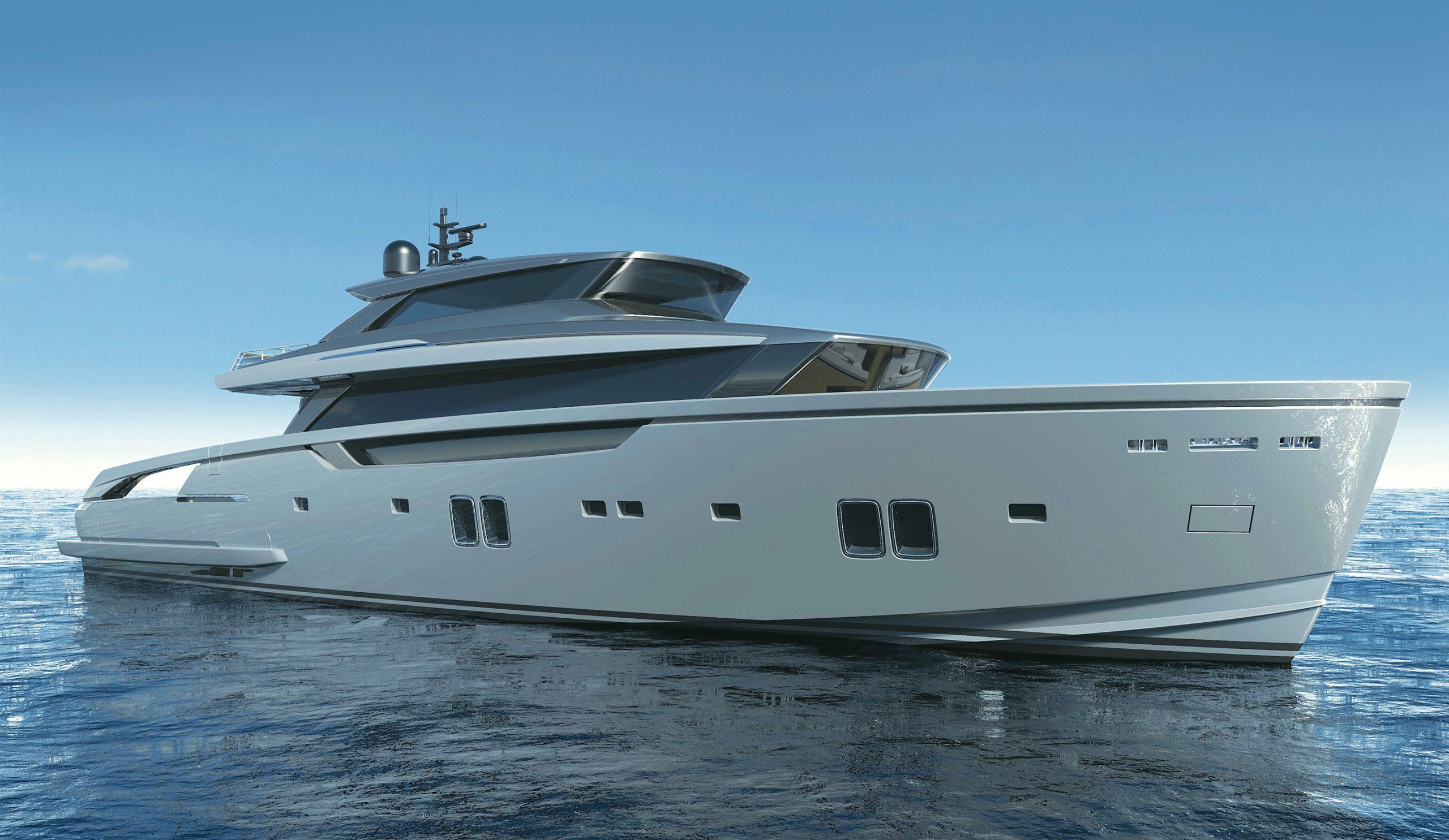 Salon nautique de Sanlorenzo-sx112-new-yachts-outdoor-hero-Palm Beach