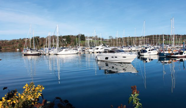 A 20-minute walk  from the town centre, Premier Falmouth Marina has a professional feel