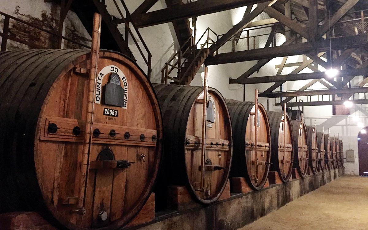 cruising-portugal-Quinta-do-Bomfim-vineyard-barrels-credit-Corinne-Julius