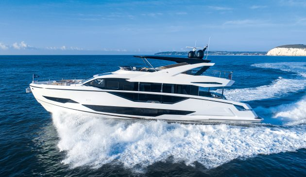The first exterior photos of the finished  90 Ocean show off its bold new proportions