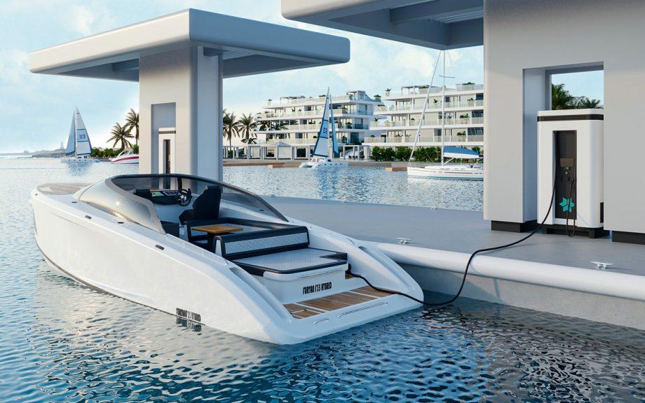 furyan-f35-hybrid-boat-charging