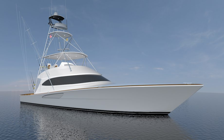 Viking-64-Convertible-bow-first-look-fort-lauderdale-boat-show-2021