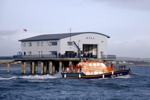 Barrow's new lifeboat Grace Dixon arrives on station, 17 December 2008. (Photo by Nicholas Leach/Ships Monthly