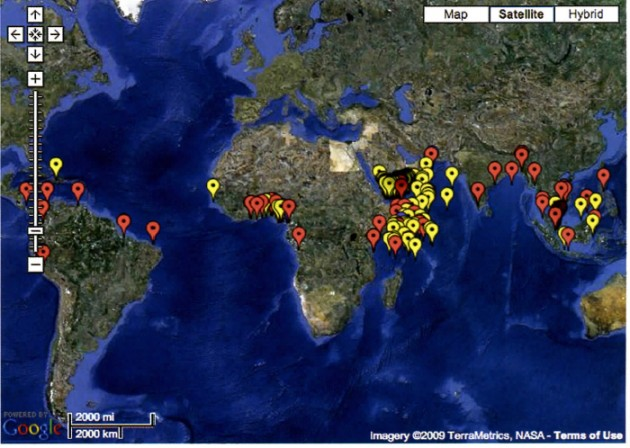 Google earth map of piracy