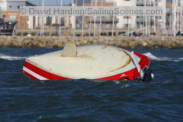 R19 keelboat capsized