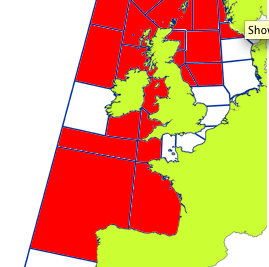 MET OFFICE has gale warnings in force for the area