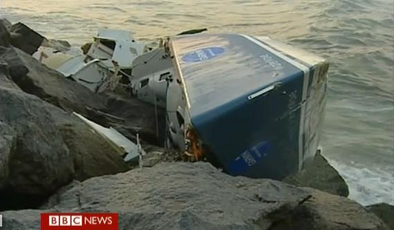 Yacht wrecked in Portugal