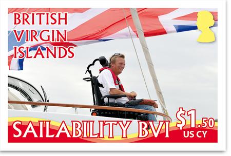 Geoff Holt/Sailability BVI stamp