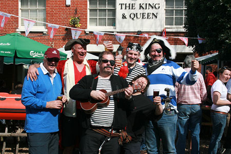 Dressing up for The King and Queen boat race