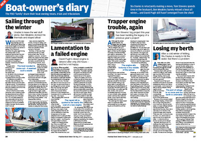 Boat Owner's Diary - May 2011