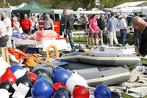 Tenders and fenders at a boat jumble