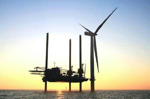Construction of offshore wind farm at Gunfleet Sands