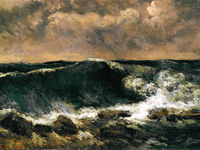 The Wave, painting by Gustave Courbet