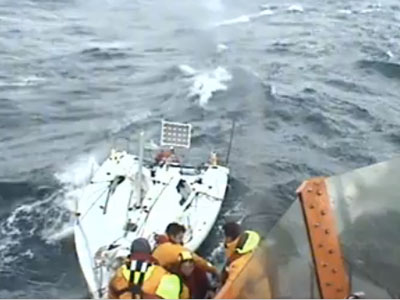 St Mary's RNLI rescue French sailor