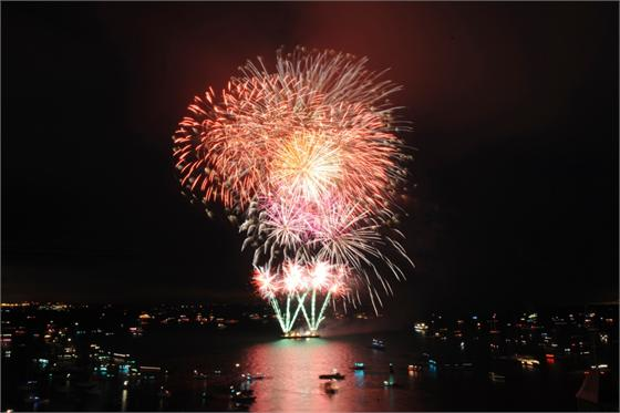 Image result for cowes week boats and fireworks