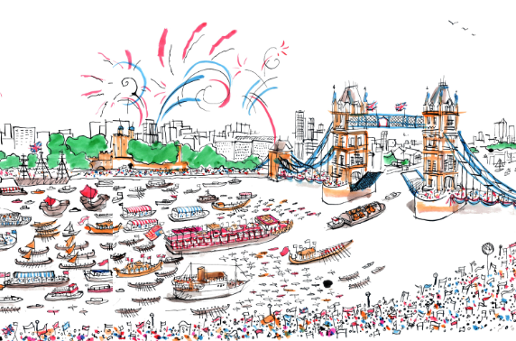 river thames diamond jubilee pageant